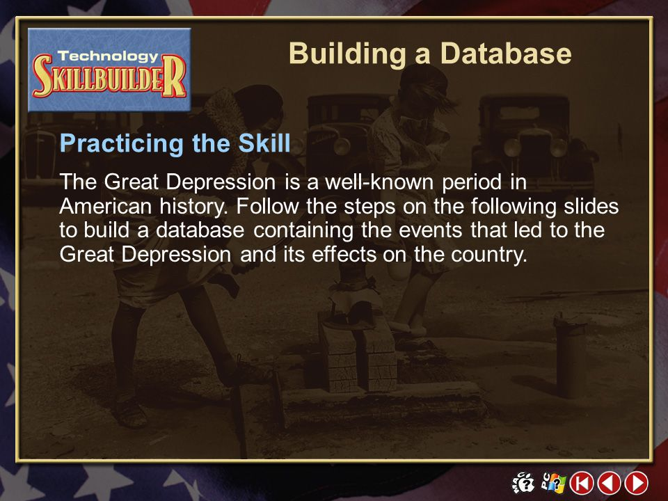 Building a Database Practicing the Skill