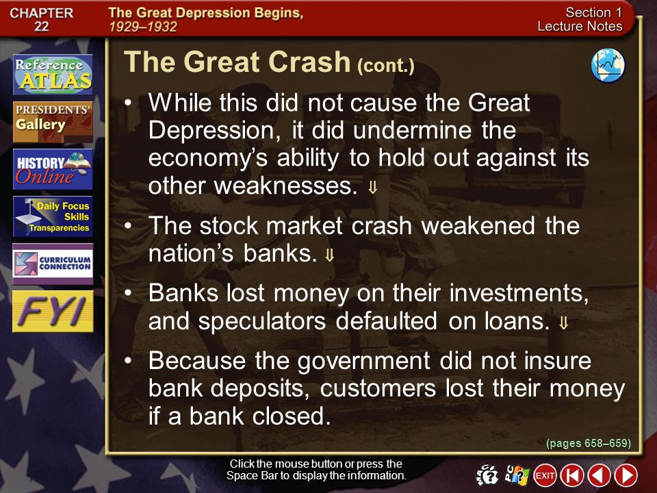 The Great Crash (cont.)