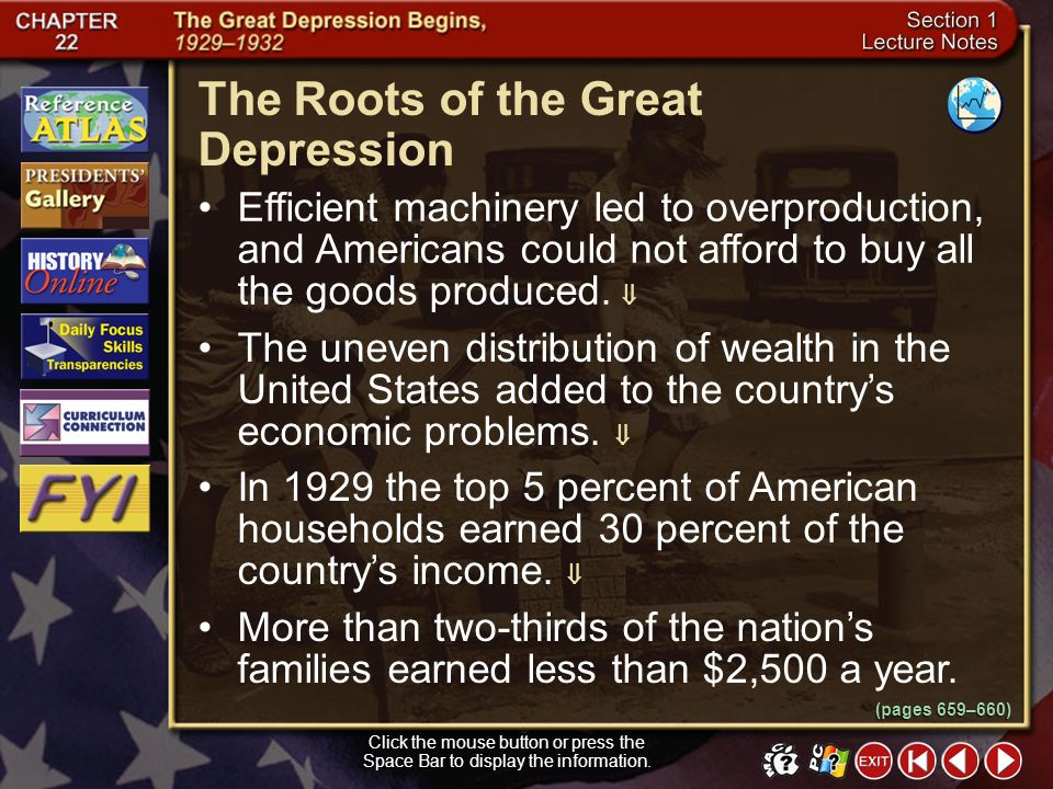 The Roots of the Great Depression