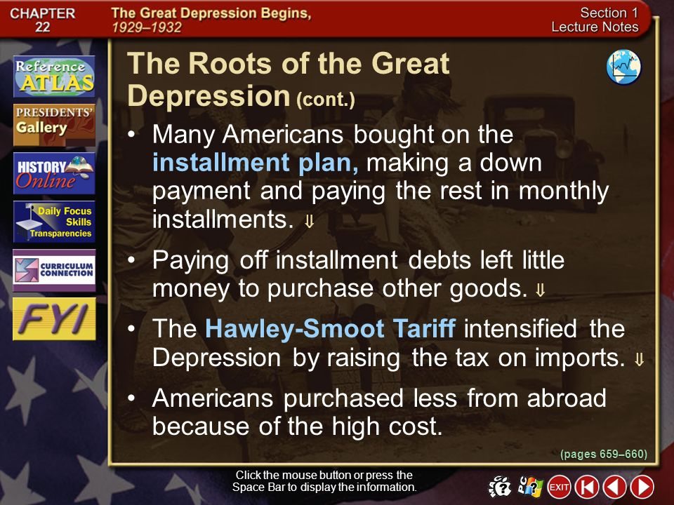 The Roots of the Great Depression (cont.)