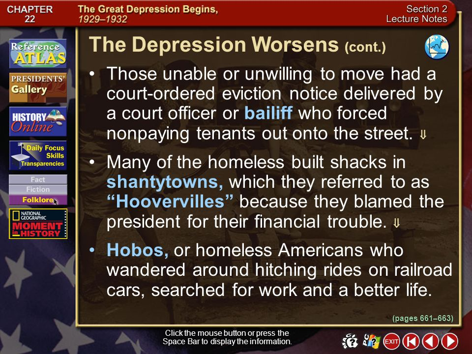 The Depression Worsens (cont.)
