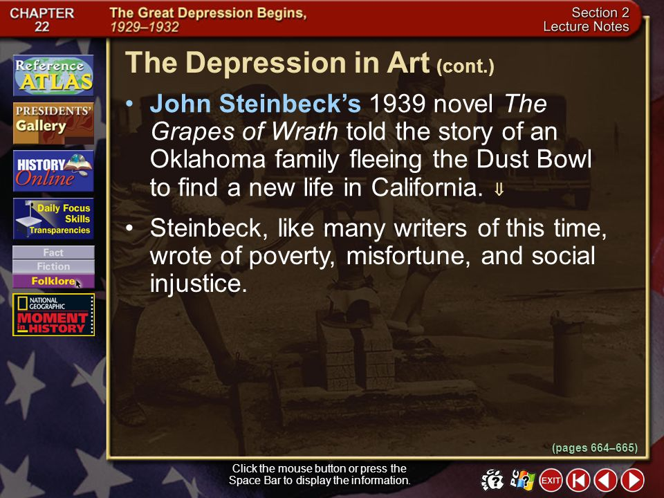 The Depression in Art (cont.)