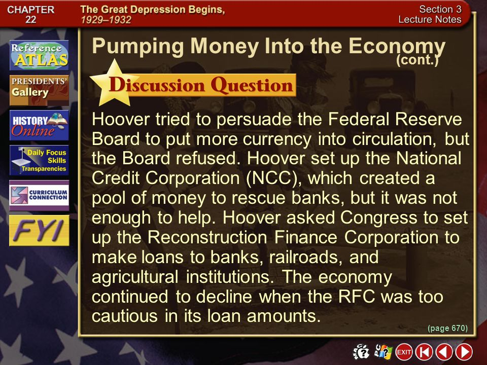Pumping Money Into the Economy