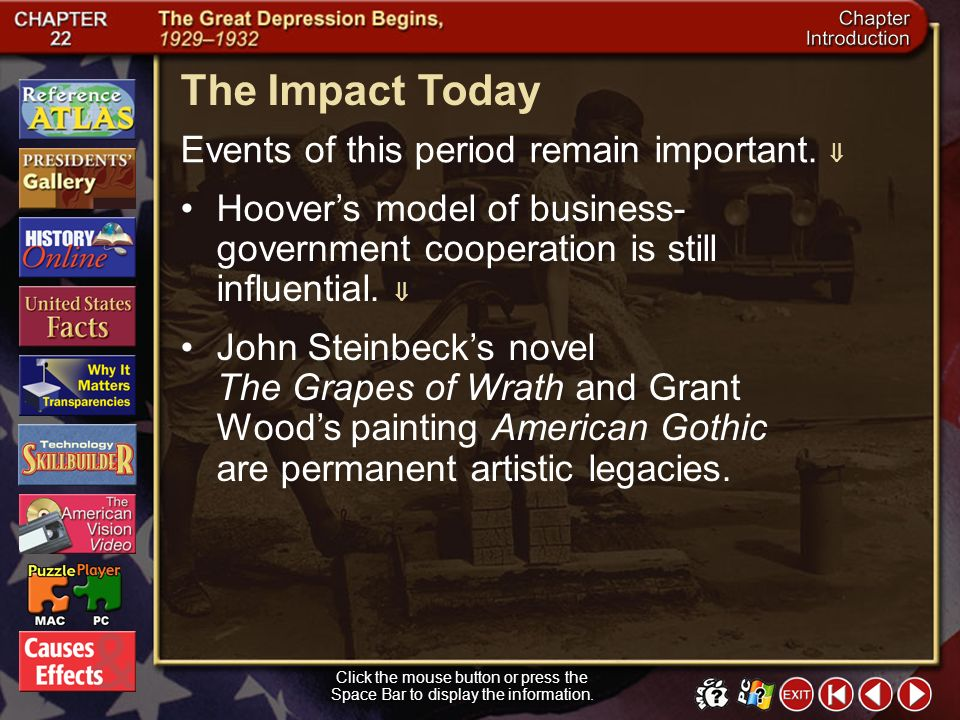 The Impact Today Events of this period remain important. 