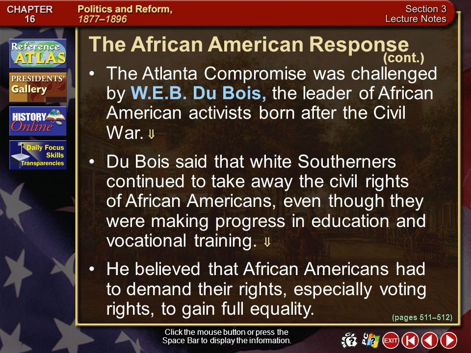 The African American Response