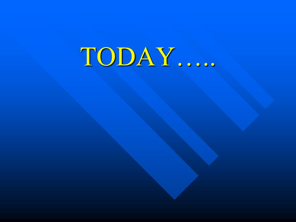 TODAY…..