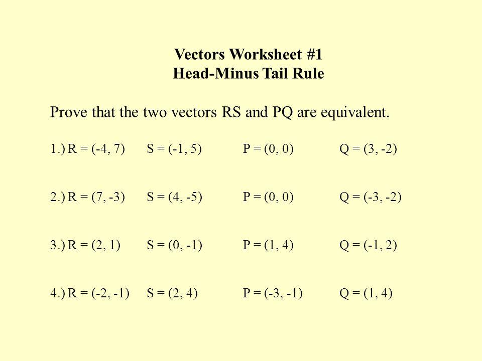 Vectors Worksheet Delibertad