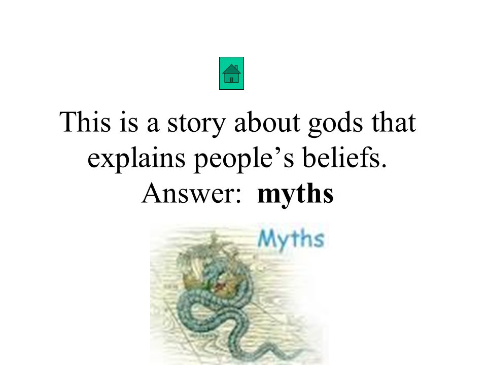 This is a story about gods that explains people's beliefs