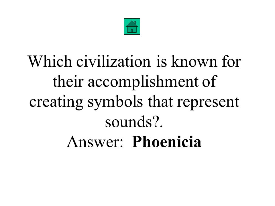Which civilization is known for their accomplishment of creating symbols that represent sounds .