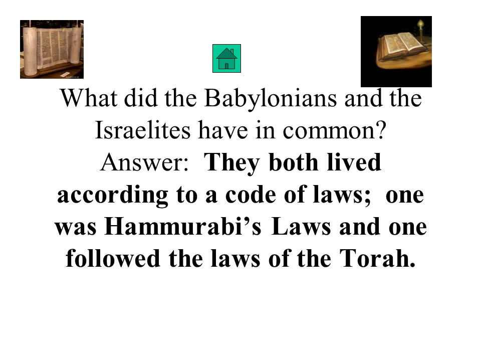 What did the Babylonians and the Israelites have in common