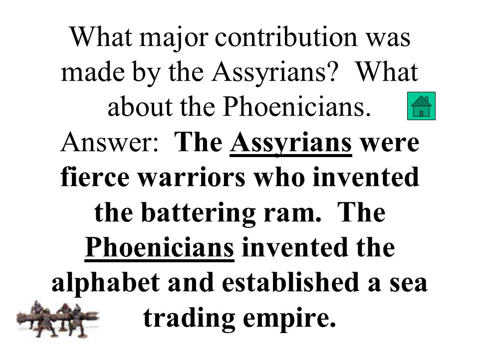 What major contribution was made by the Assyrians