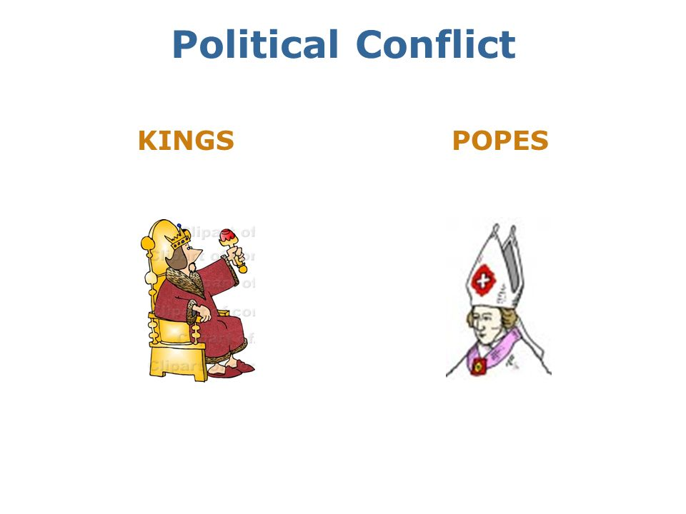 Political Conflict KINGS POPES