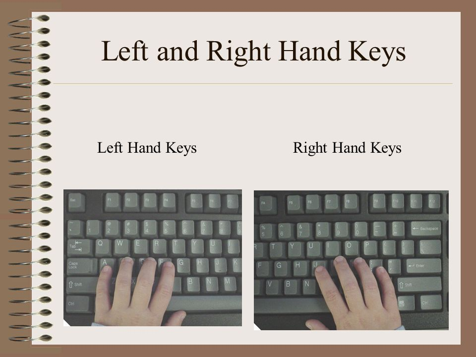 Left and Right Hand Keys