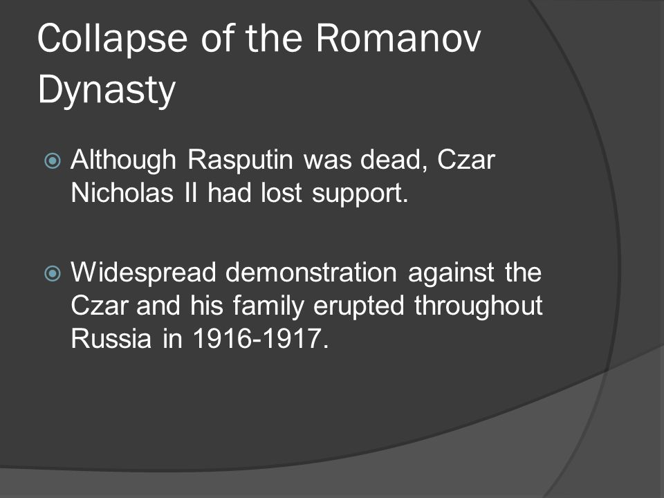 Collapse of the Romanov Dynasty
