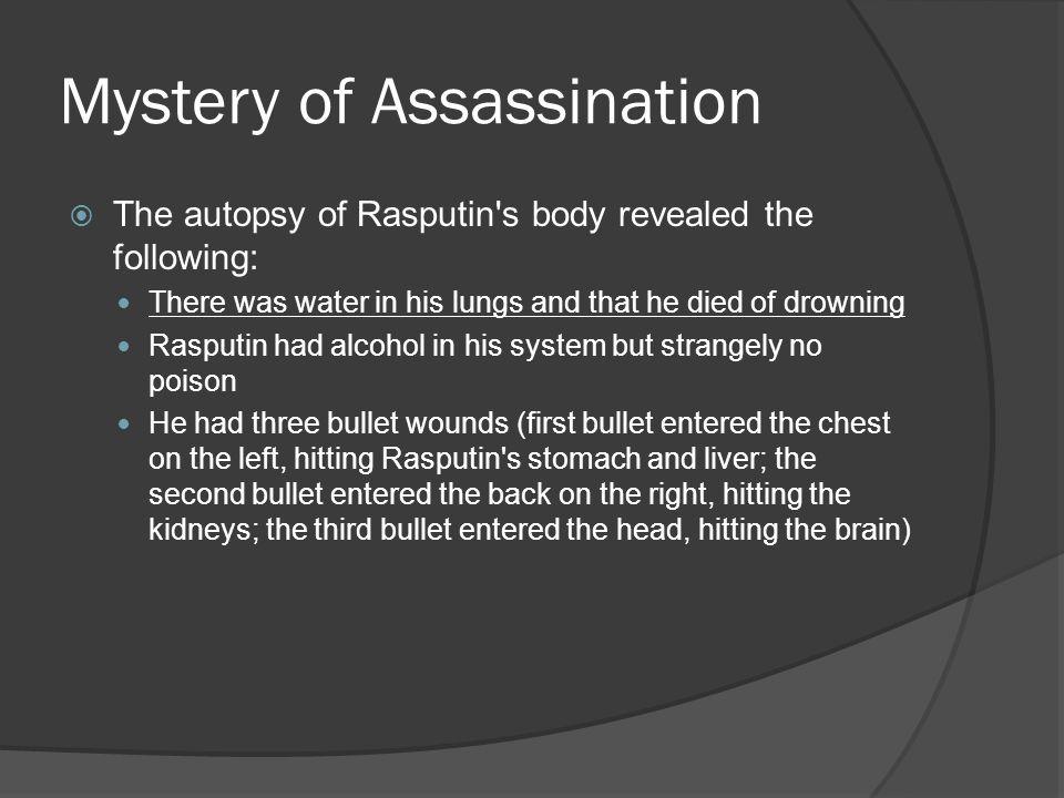 Mystery of Assassination
