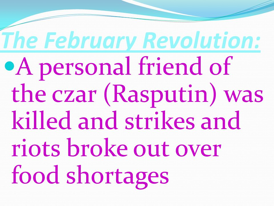 The February Revolution: