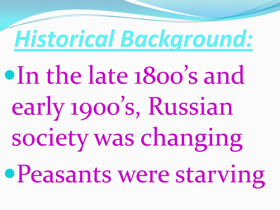 Historical Background: