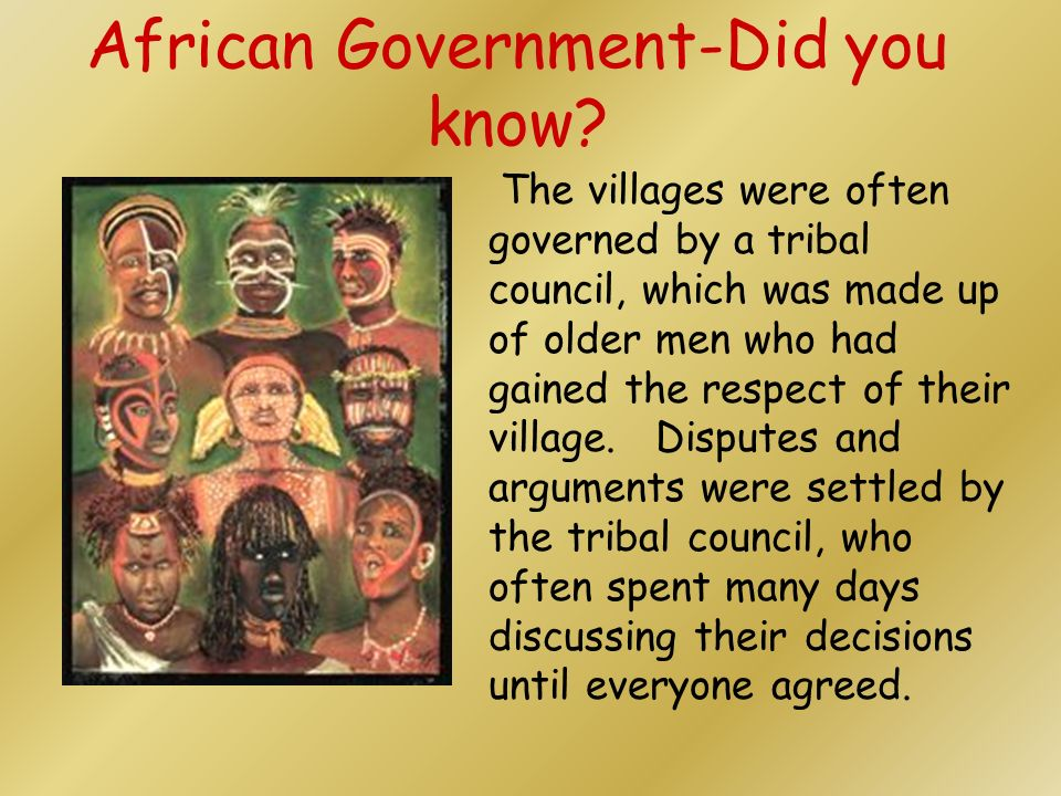 African Government-Did you know
