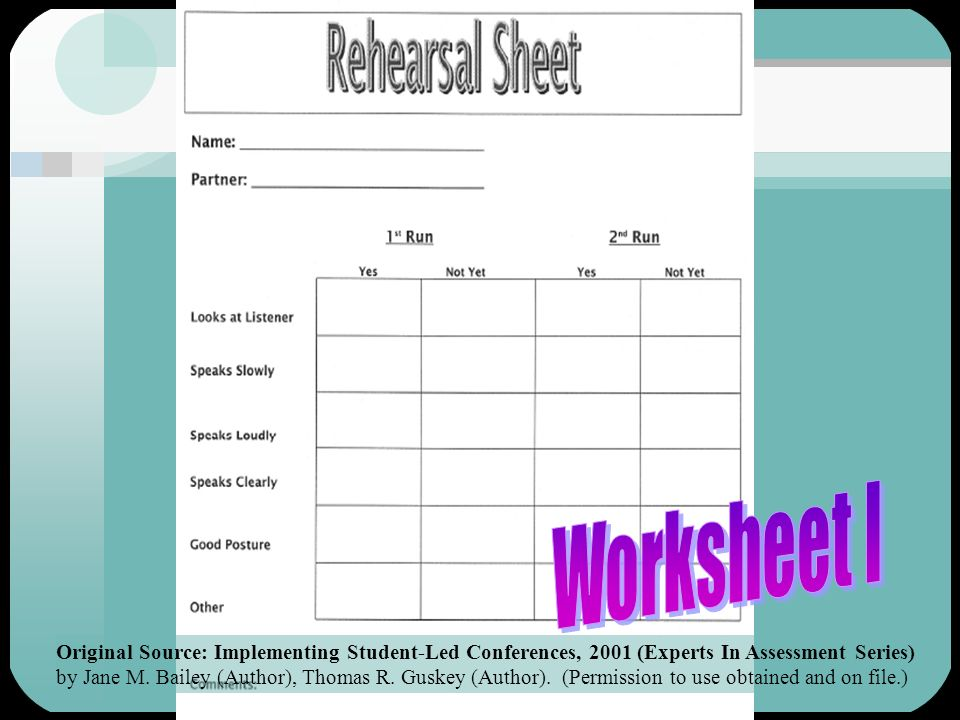 Worksheet I