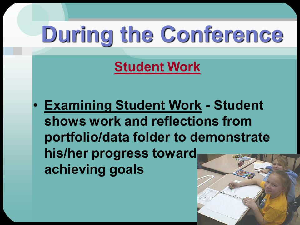 During the Conference Student Work