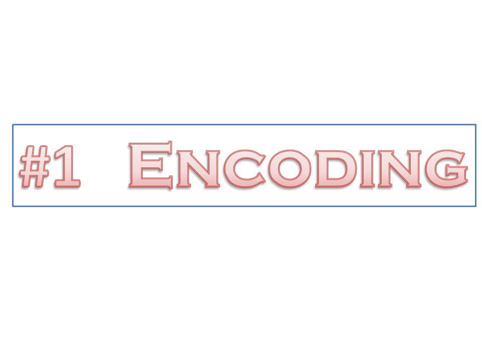 #1 Encoding