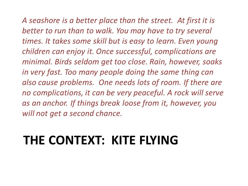 The Context: Kite Flying