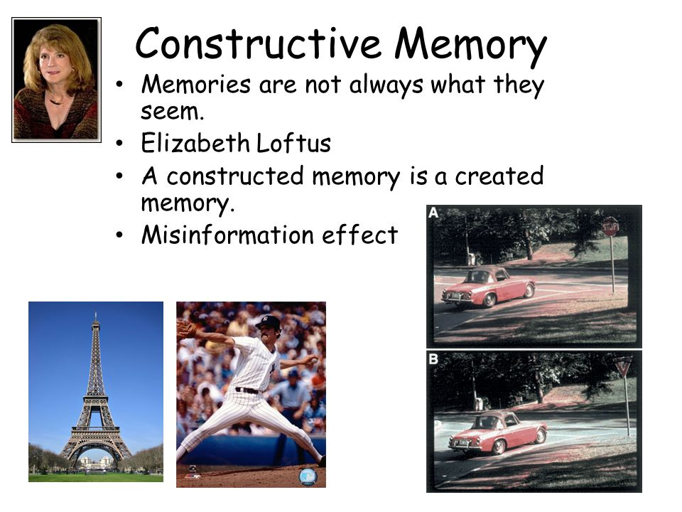Constructive Memory Memories are not always what they seem.