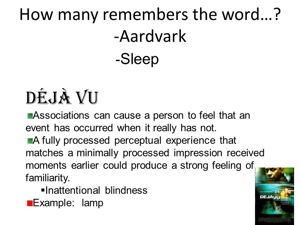 How many remembers the word… -Aardvark