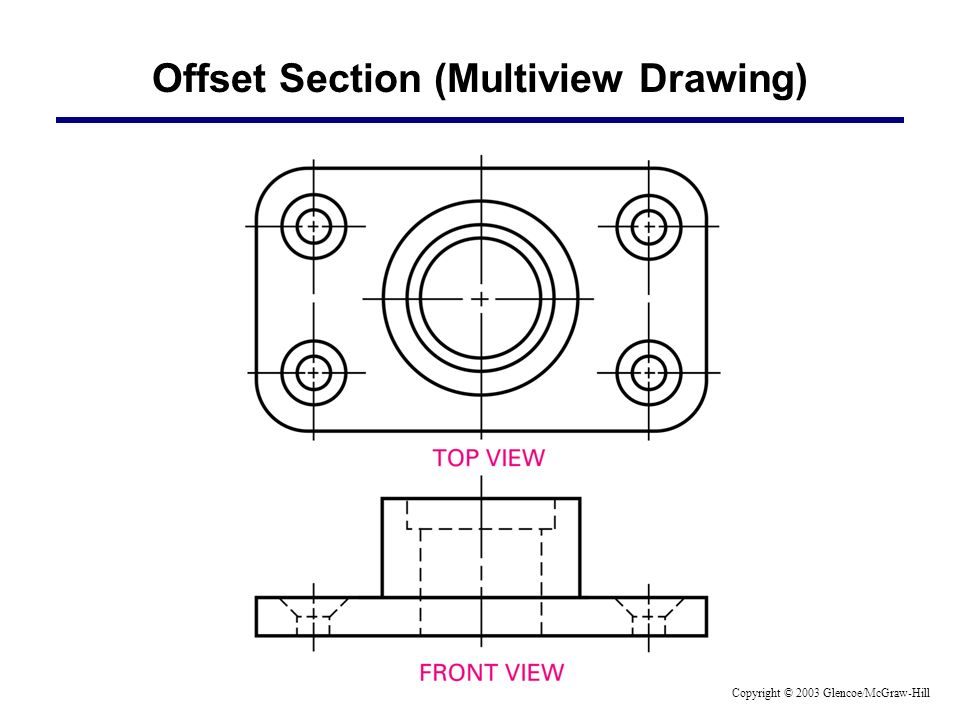 Offset Section (Multiview Drawing)