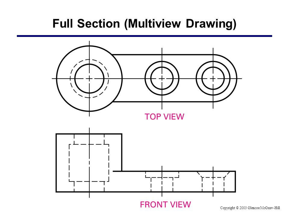 Full Section (Multiview Drawing)