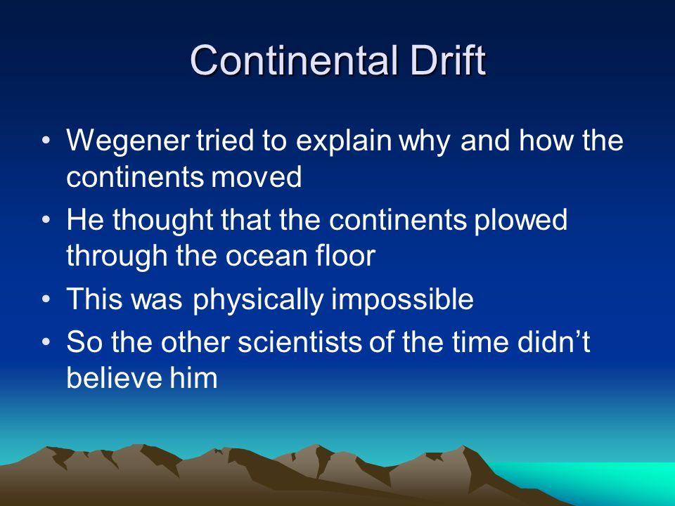 Continental Drift And Sea Floor Spreading Ppt Video