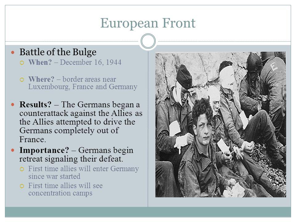 European Front Battle of the Bulge