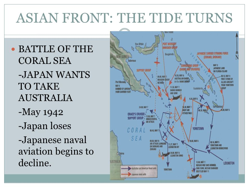 ASIAN FRONT: THE TIDE TURNS