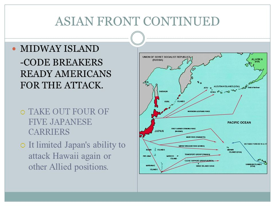 ASIAN FRONT CONTINUED MIDWAY ISLAND