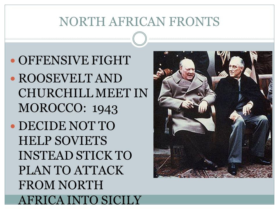 NORTH AFRICAN FRONTS OFFENSIVE FIGHT