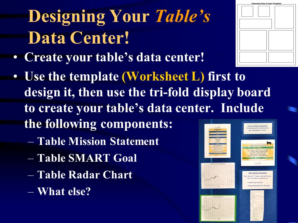 Designing Your Table's Data Center!