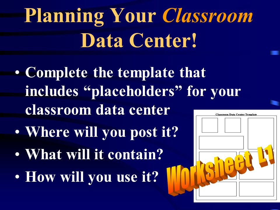 Planning Your Classroom Data Center!
