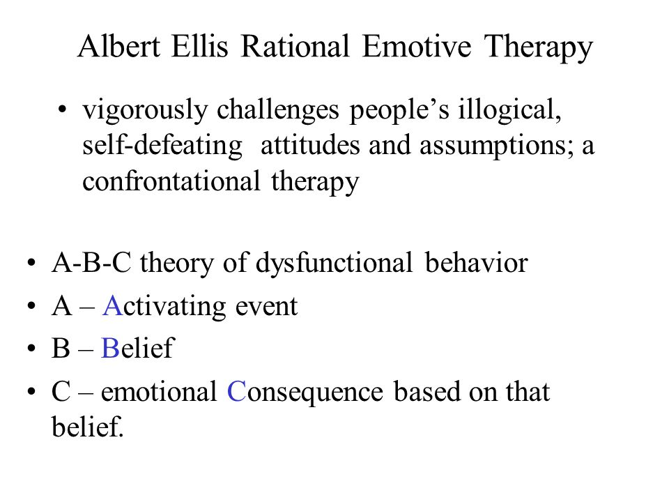Albert Ellis Rational Emotive Therapy