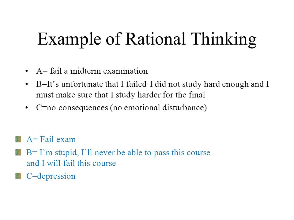 Example of Rational Thinking