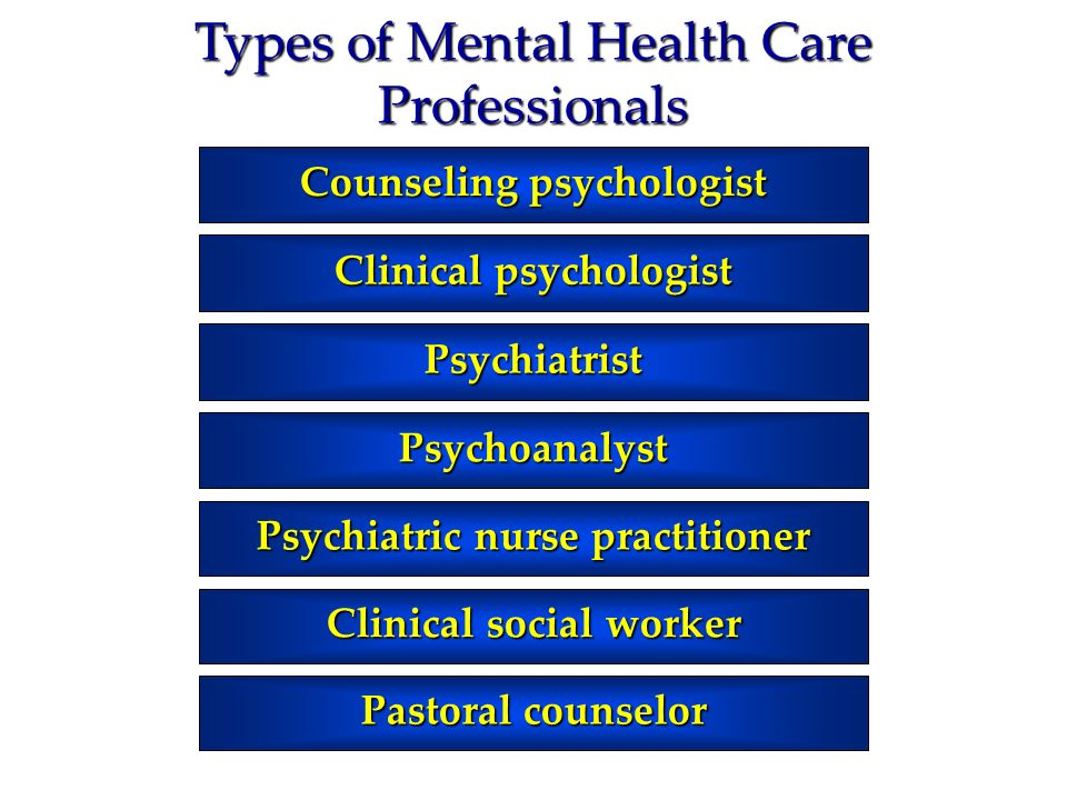 Types of Mental Health Care Professionals