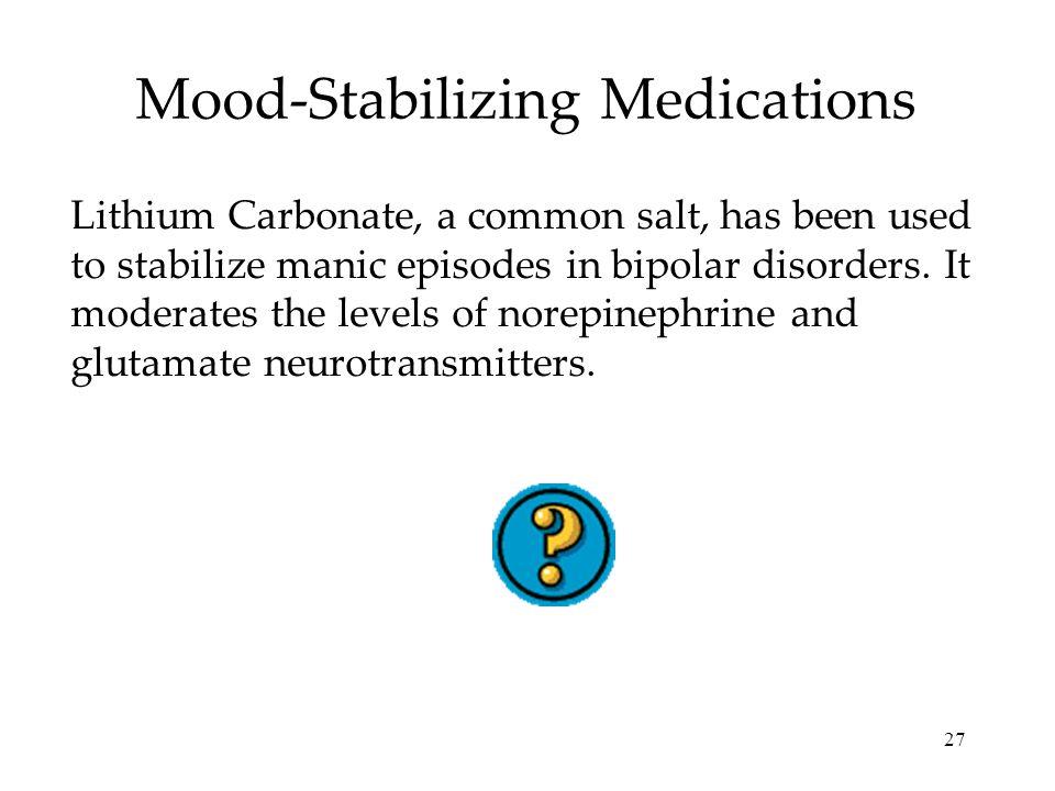 Mood-Stabilizing Medications