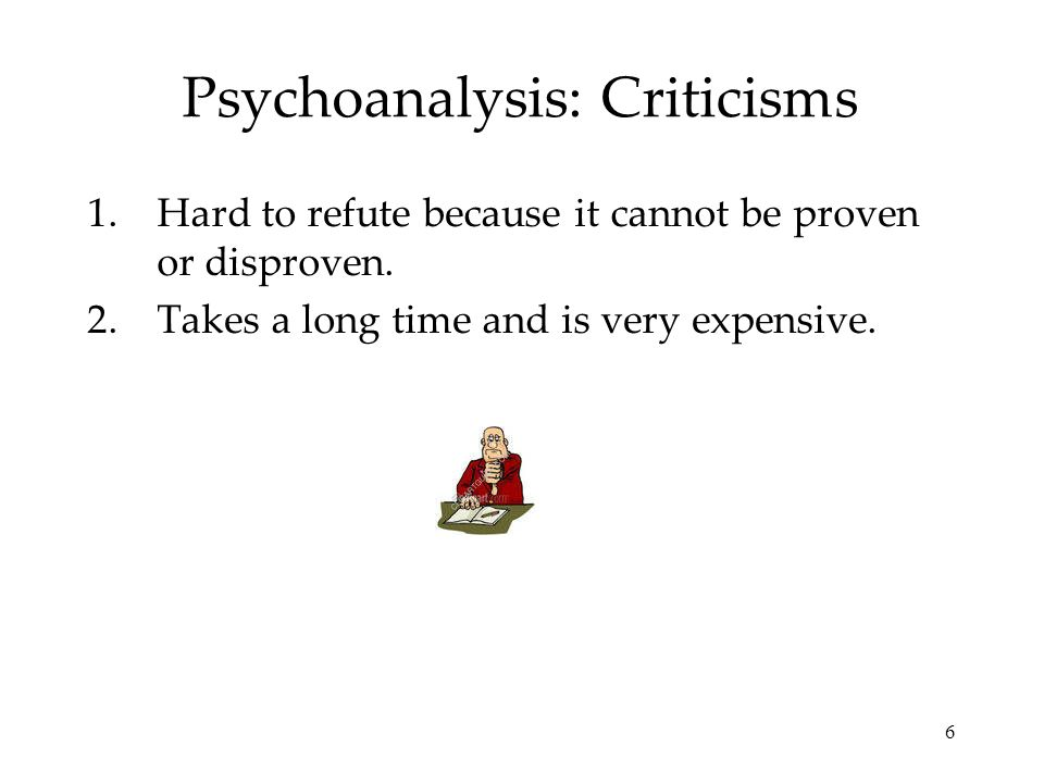 Psychoanalysis: Criticisms