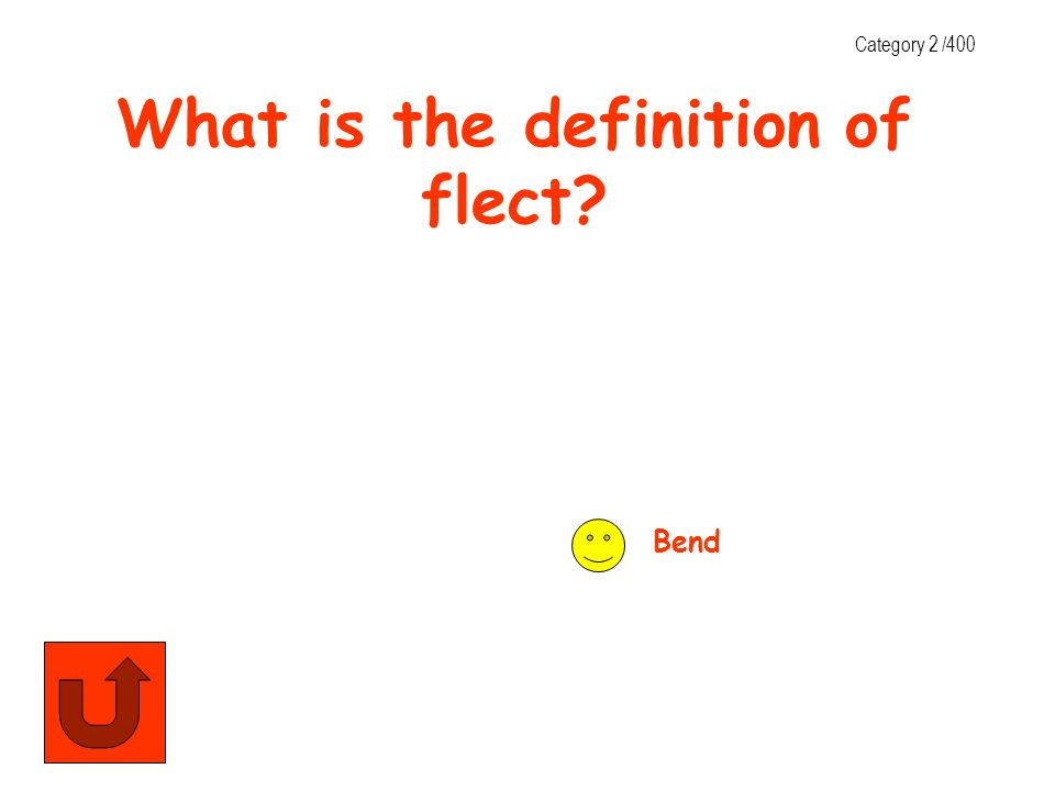 What is the definition of flect