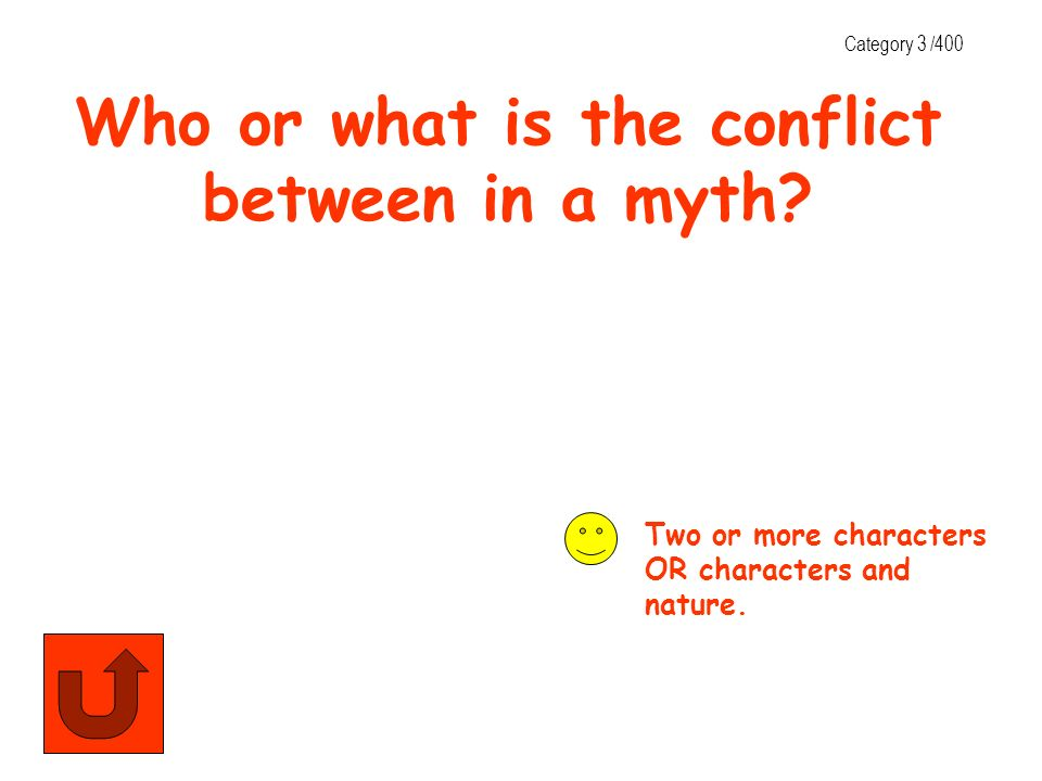 Who or what is the conflict between in a myth