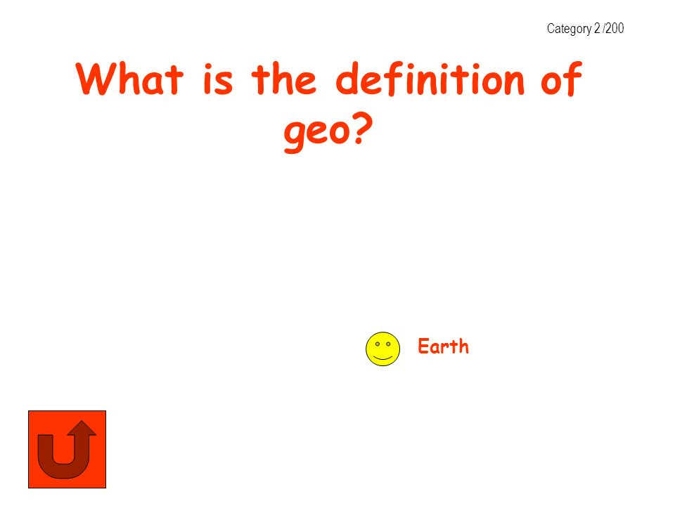 What is the definition of geo