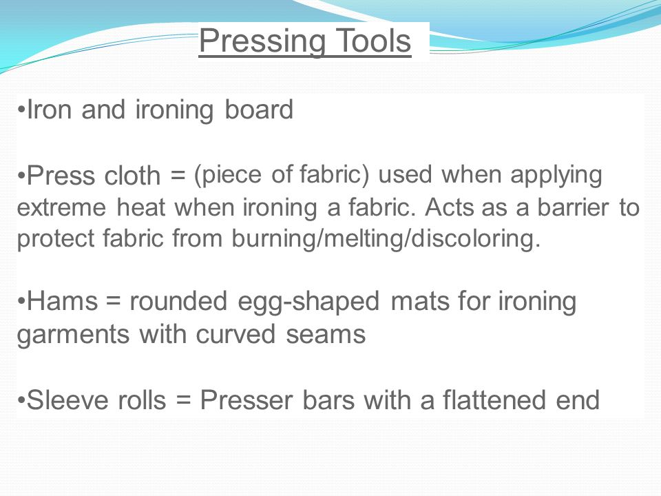 Pressing Tools Iron and ironing board