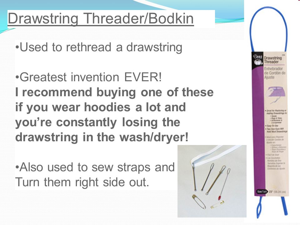 Drawstring Threader/Bodkin