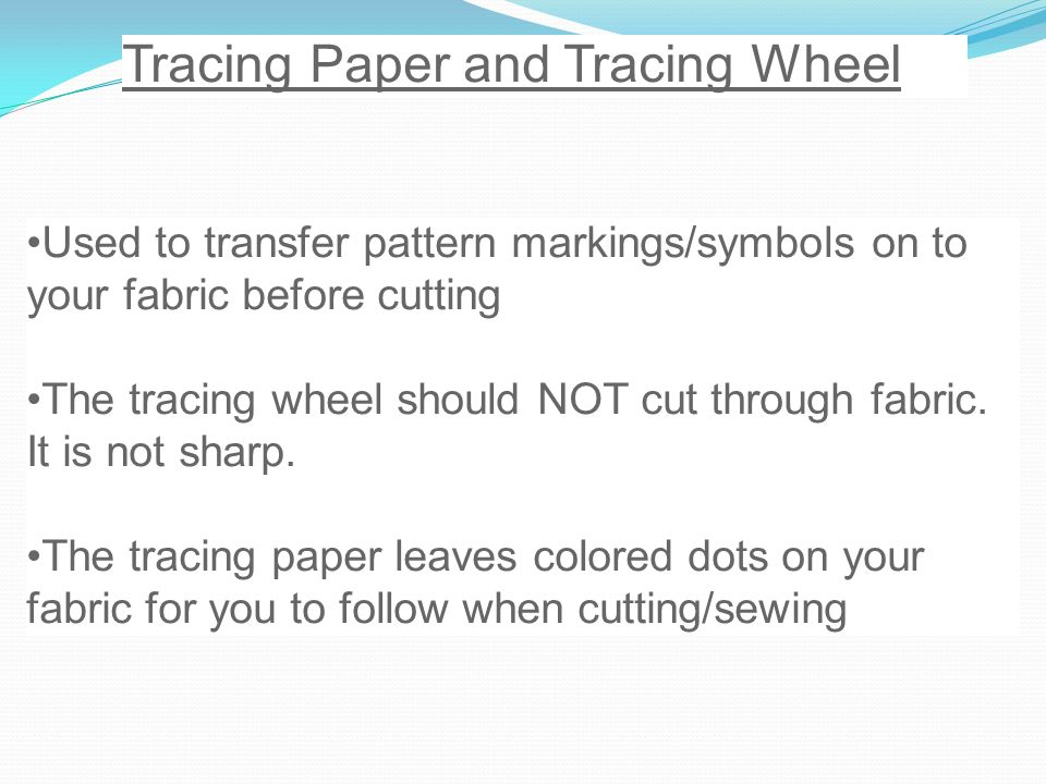 Tracing Paper and Tracing Wheel