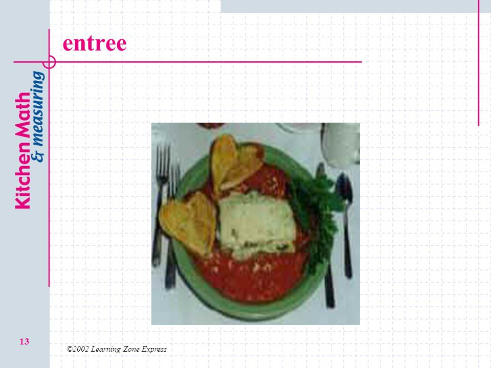 entree ©2002 Learning Zone Express