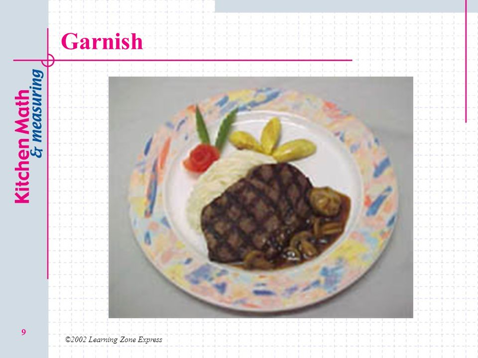Garnish ©2002 Learning Zone Express